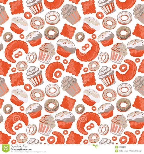 pattern goods vector food bakery seamless pattern with baked goods