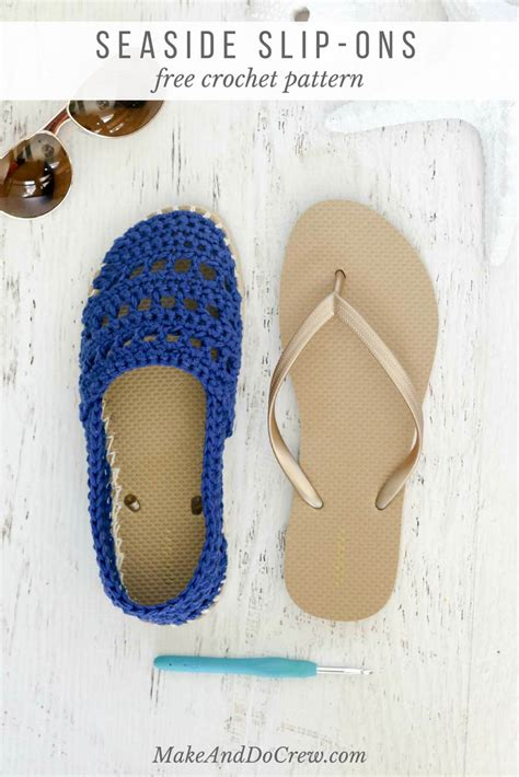Crochet Bottoms crochet shoes with rubber bottoms free quot toms quot style