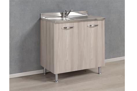 lavello con sottolavello 00000012 base aron sottolavello con 2 vasche inox