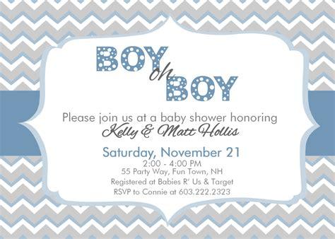 Oh Boy Baby Shower by Chevron Baby Shower Invitation Boy Chevron Boy Oh Boy Baby