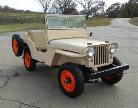 Willy Jeeps For Sale Nicely Restored 1946 Willys Cj2a Bring A Trailer