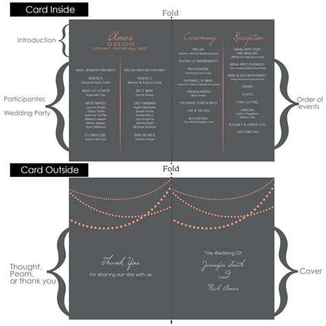wedding program inclusions what should be included in a wedding program