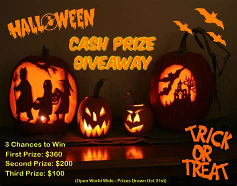 Halloween Giveaways - trick or treat halloween giveaway 3 chances to win cash eyes on the dollar