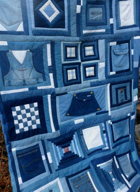 Blue Jean Quilts by Blue Jean Quilt Patchwork Sler Upcycled Denim