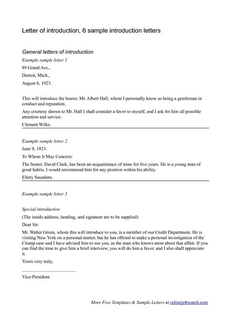Professional Introduction Letter Exles Best Photos Of Formal Introduction Exles Formal Introduction Letter Sle Sle