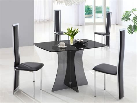 Small Glass Kitchen Table Sets Serene Small Glass Dining Table