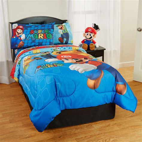 mario bed set mario comforter walmart