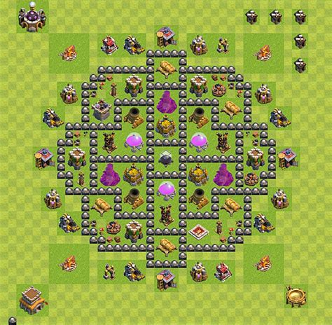 coc layout plan clash of clans base plan layout for farming town hall