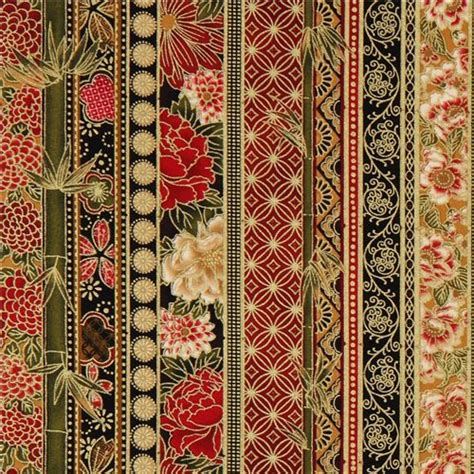 Orientalische Stoffe by Stripes Fabric With Gold Robert Kaufman