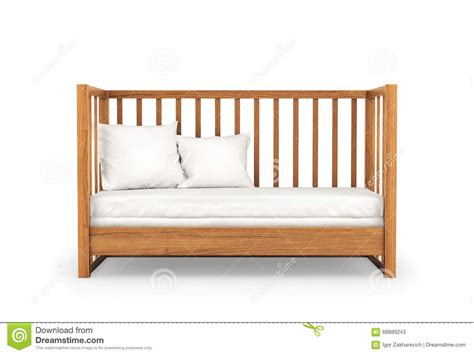White Wooden Cribs by Wooden Crib On White Background Stock Illustration