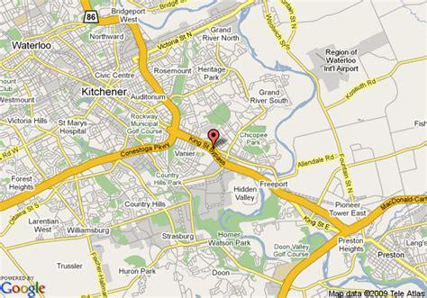 map of kitchener knights inn kitchener