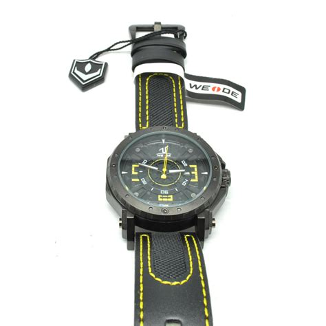 Weide Jam Tangan Sports 30m Water Resistance Wh5203 White weide japan quartz leather sports 30m water resistance uv1601 yellow