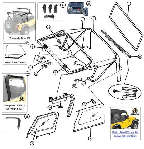 1999 jeep parts diagrams interactive diagram mopar soft top hardware for jeep