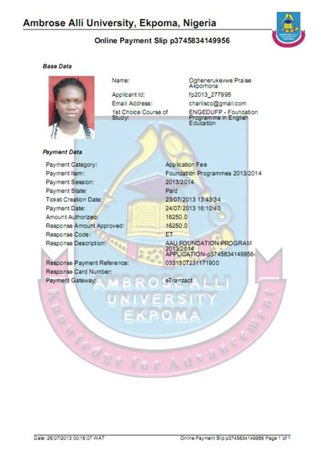 admission forms 2015 unizik diploma pre science post st charles edu services july 2013