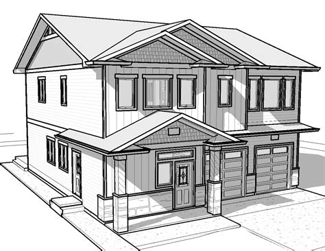 3d house drawing pencil easy house drawings modern basic