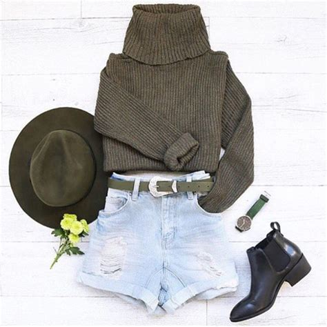 Blouse Girly Hat 65 top outfithuas khaki boots hat belt jumper style