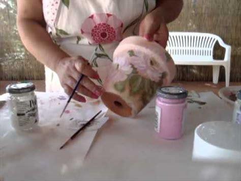 decoupage su vasi di terracotta decoupage vaso di coccio decorato