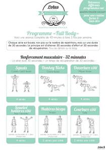 programme fitness quot quot 224 la lotus bouche