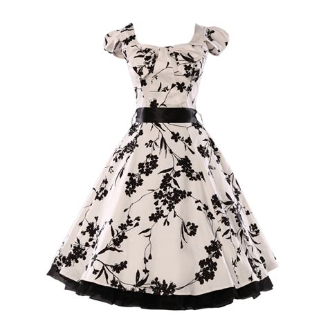1960 swing dress elegant flower floral print vintage dress 1950s 1960s