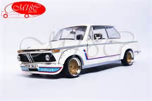 bmw 2002 turbo white bbs wheels anson diecast model car 1