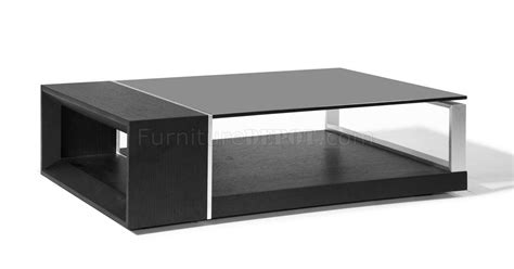 treble coffee table beverly espresso w black