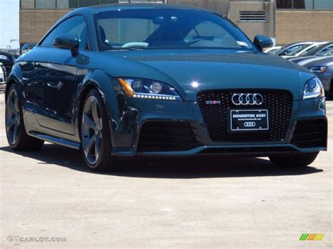 black and teal car 2013 audi exclusive dark teal audi tt rs quattro coupe