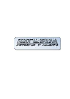Modele 4 1 Registre De Commerce
