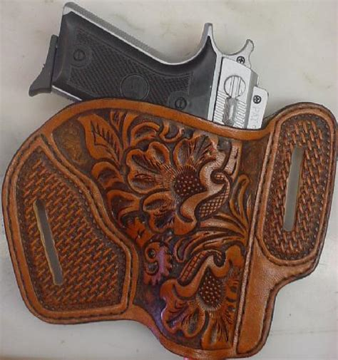 Handmade Gun Holsters - custom leather holster modern leather gun holsters by wc