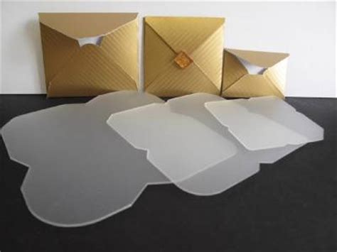 Plastic Envelope Template 3 plastic mini envelope templates to make 68x68mm 58x57mm 48x34mm envs am467 ebay