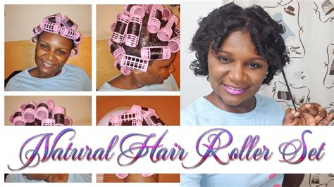 magnetic rollers on short natural hair youtube 15 natural hair roller set with magnetic rollers ion
