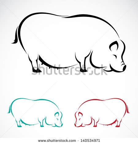 pig outline vector