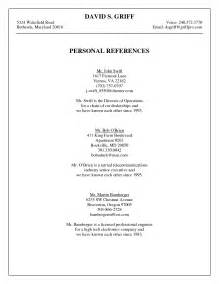 how to list references on a resume references template