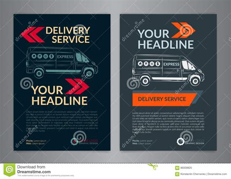 delivery flyer template images templates design ideas