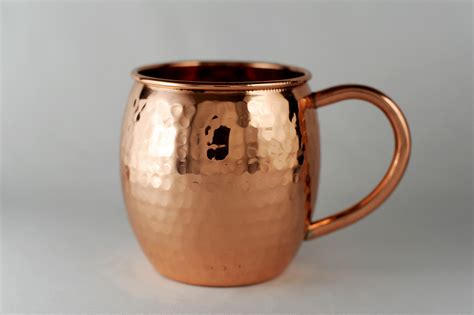 Copper Kitchen Accessories - 16 oz barrel shaped hammered copper moscow mule mug on storenvy