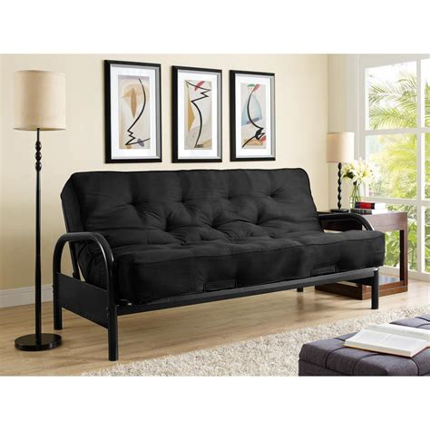 dallas futon simmons dallas black futon si ex dal bk 1k the home depot