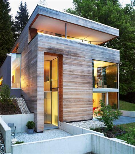 haus hanglage modern kleiner grundriss am hang modernes einfamilienhaus