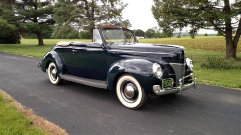 Ford Washington by 1940 Ford Deluxe Convertible Washington Blue For Sale