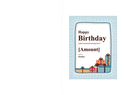 birthday card templates for word 2013 birthday gift certificate template note card