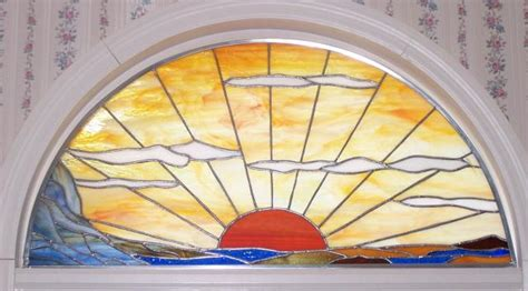 Prairie sunset some items gallery stained glass town square