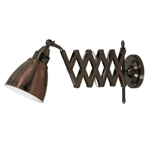 bronze swing arm l floren copper bronze swing arm wall light 32197cbz the