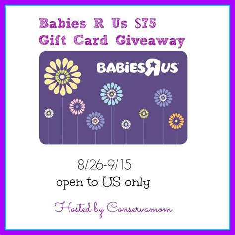 Babies R Us Gift Card Check - 75 babies r us gift card giveaway powered by mom