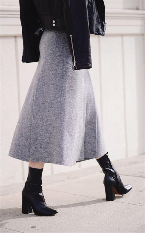 pleated wool skirt hallie daily