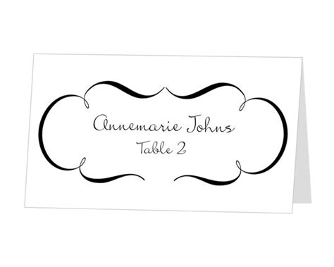 best photos of printable place card template wedding
