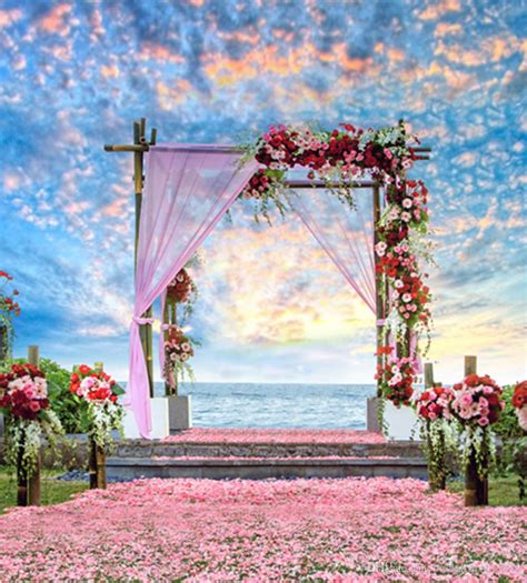 Background Wedding Outdoor by Beautiful Sky Clouds Outdoor Scenic Summer Wedding