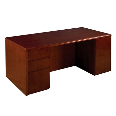 cherry wood desk pedestal desk 72x36 in cherry wood
