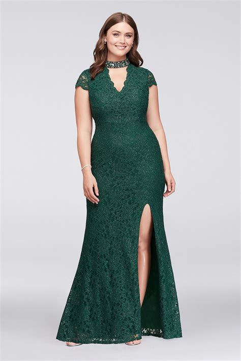 Bj 8345 Casual Blue Dress glitter lace plus size gown with gem neckline style