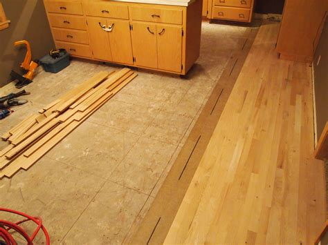 linoleum to new hardwood