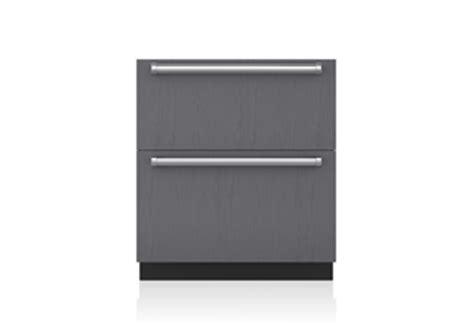 sub zero refrigerator drawers with ice maker 24 quot freezer drawers panel ready id 24f sub zero