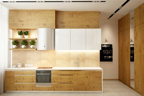 Kitchen Wood Cabinets 25 White And Wood Kitchen Ideas