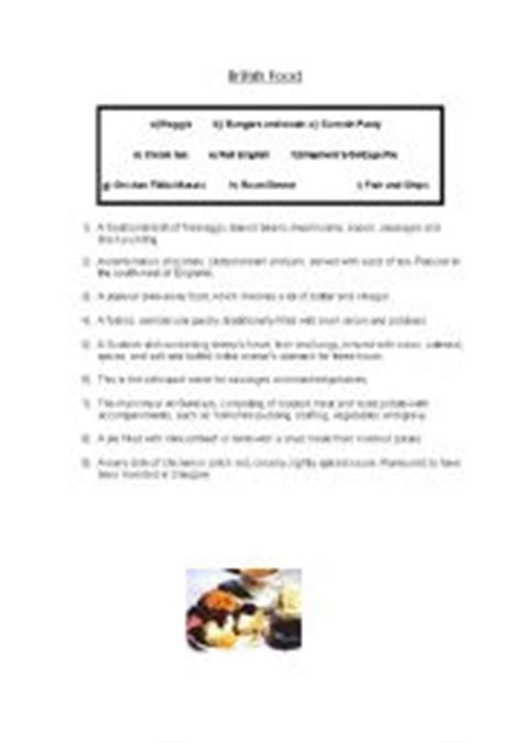 printable quiz about scotland english teaching worksheets british food